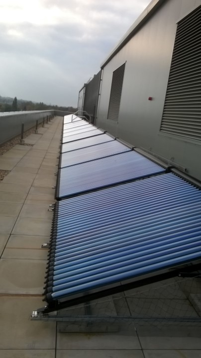 Industrial scale commercial solar thermal system